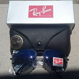 Brand New Blue Granite RayBan Aviators 62mm